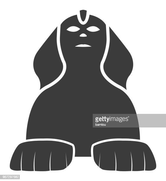 the great sphinx icon - the sphinx stock illustrations, clip art, cartoons, & icons