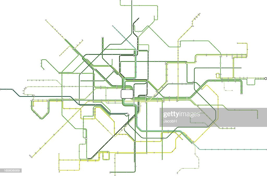The Green Line : stock illustration