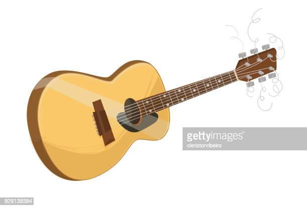 ilustrações, clipart, desenhos animados e ícones de a violão - violão