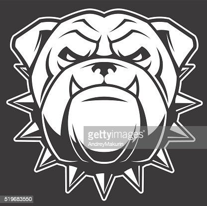 the head of a fierce bulldog vector art | thinkstock