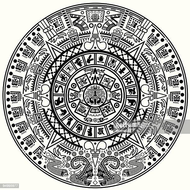 the hour grows late indeed - aztec stock illustrations