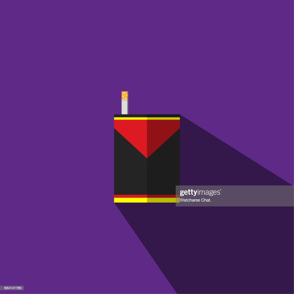 The illustration is a picture of black and yellow cigarettes and cigarettes can be used for media.