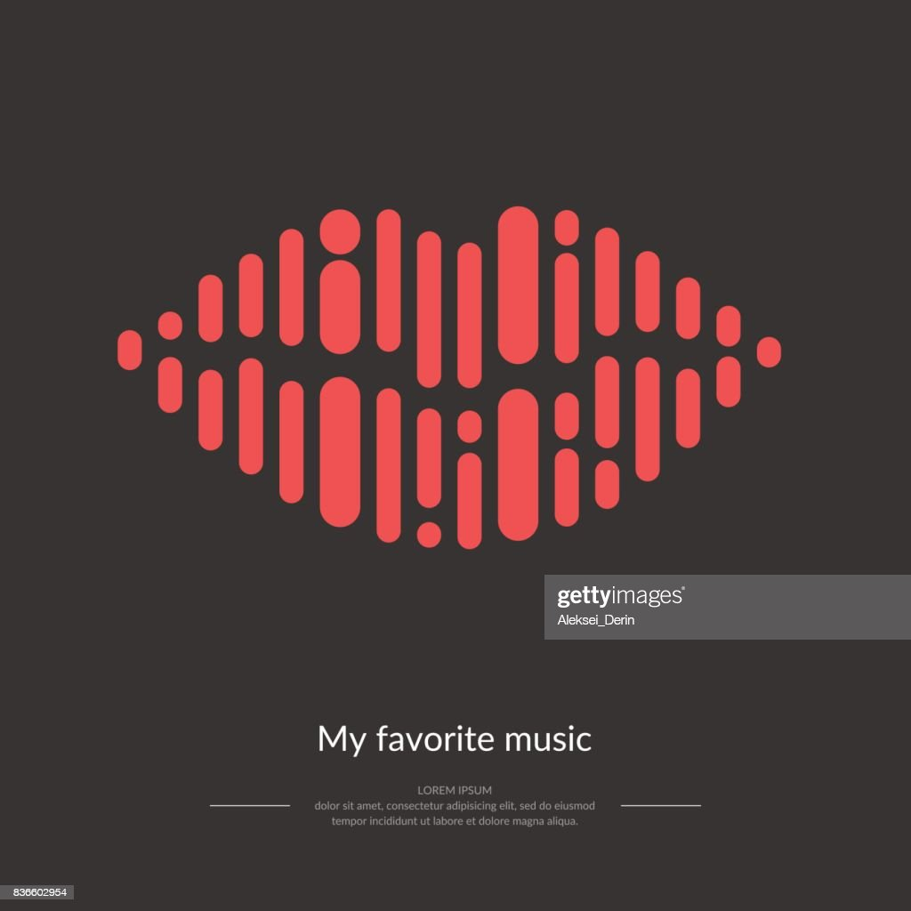 The image of the sound wave