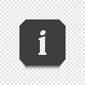 The information icon on a transparent background with a transparent letter I. Vector