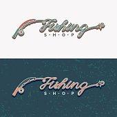 The inscription Fishing, original lettering