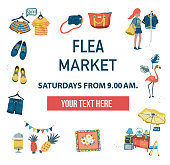 The invitation poster to visit the market fair