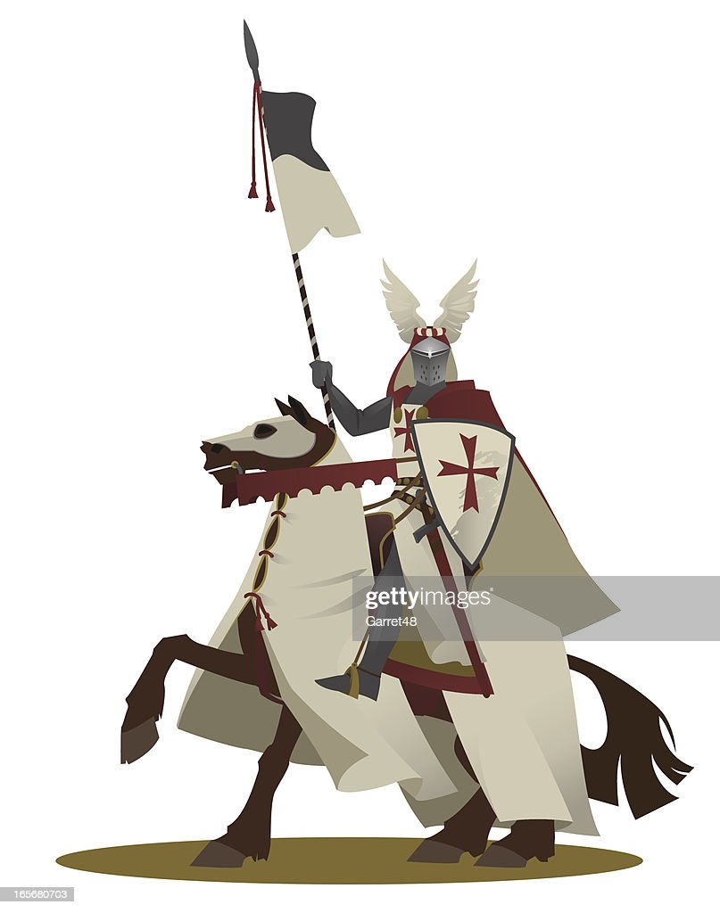 The knight templar on a horse