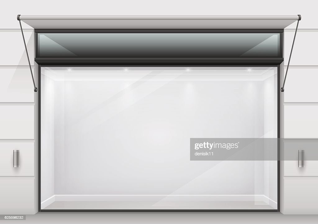 The large glass showcase