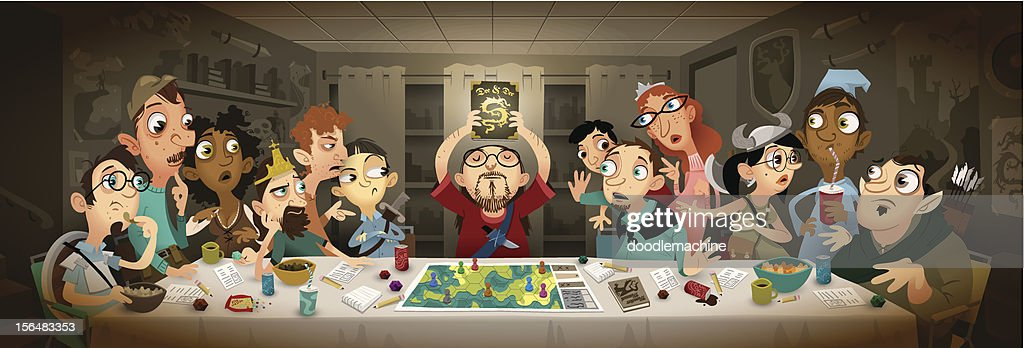 The Last RPG Club Meeting : Stock Illustration