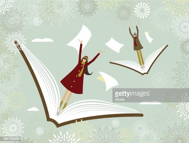 ilustraciones, imágenes clip art, dibujos animados e iconos de stock de el aprendizaje de aventura - chuwy