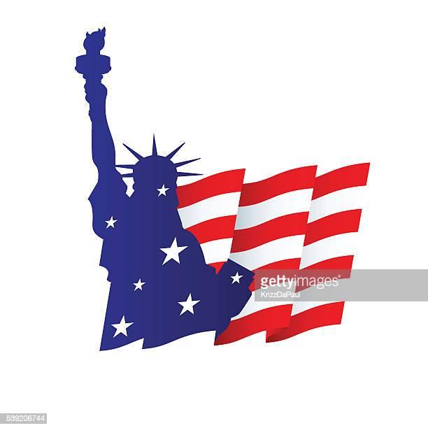 ilustraciones, imágenes clip art, dibujos animados e iconos de stock de la libertad - estatua de la libertad