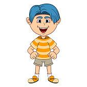 The little cute boy cartoon