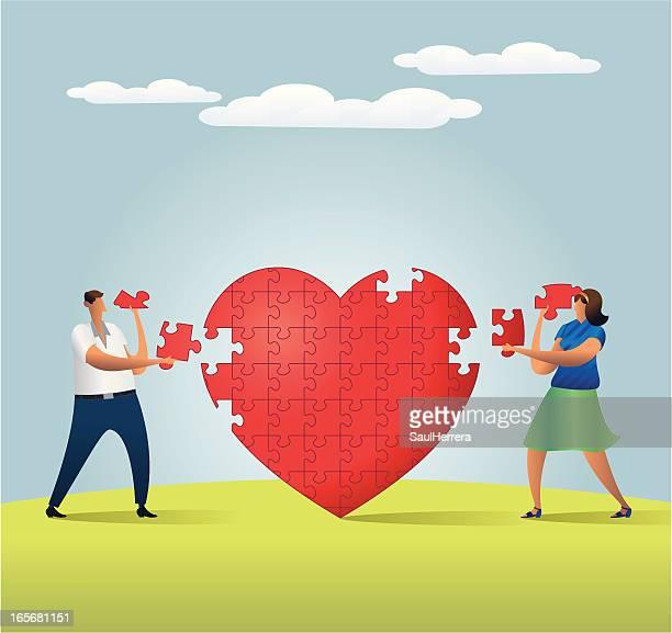 the love parts - civil partnership stock illustrations