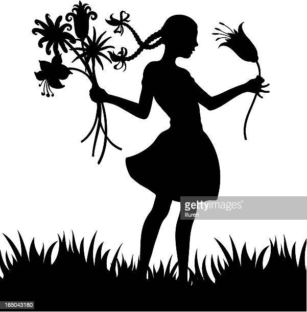 the magic flowers - braided hair stock illustrations, clip art, cartoons, & icons
