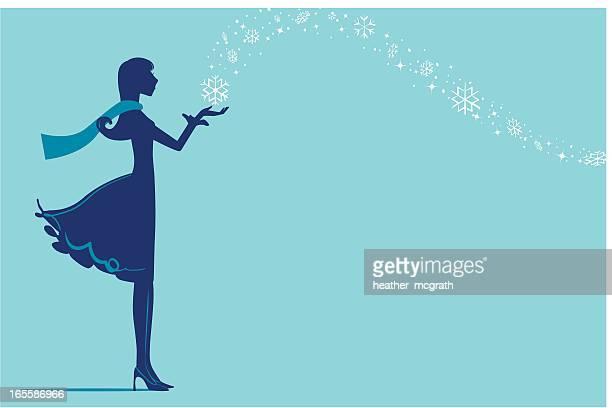 ilustraciones, imágenes clip art, dibujos animados e iconos de stock de la magia de invierno - glamour