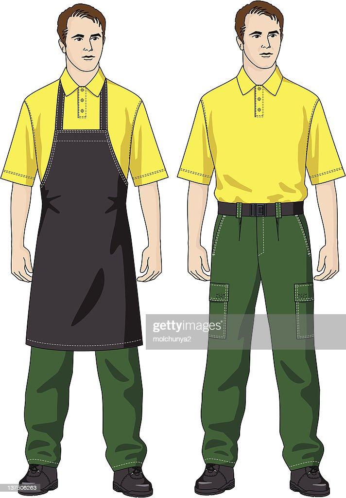 The man in an apron
