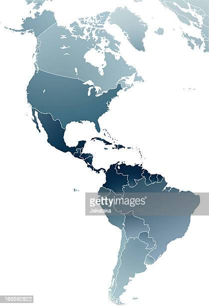 the map of americas. - central america stock illustrations, clip art, cartoons, & icons