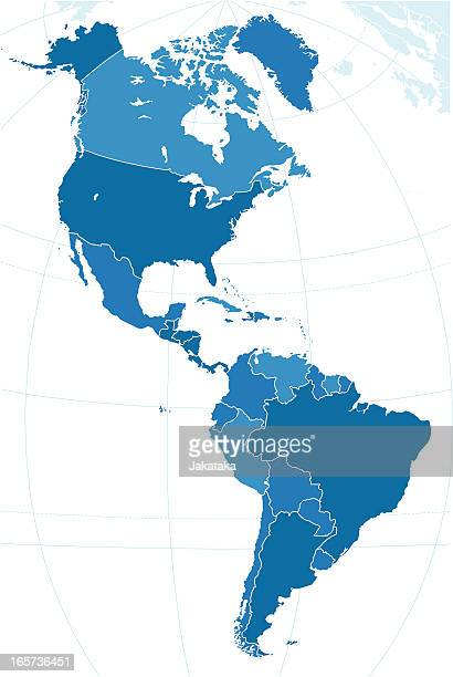 the map of americas. - argentina stock illustrations