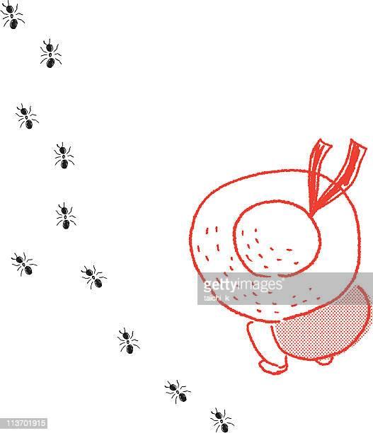 ilustraciones, imágenes clip art, dibujos animados e iconos de stock de la marzo de hormigas - hormiga