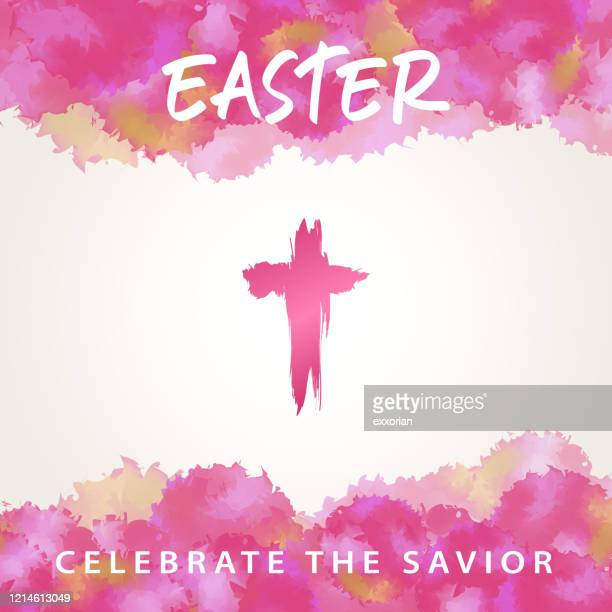 the meaning of easter cross - easter sunday stock illustrations