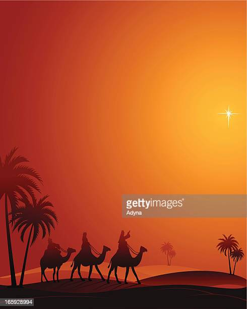ilustraciones, imágenes clip art, dibujos animados e iconos de stock de el messiah nace - los tres reyes magos