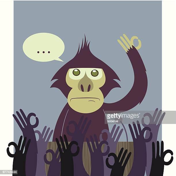ilustraciones, imágenes clip art, dibujos animados e iconos de stock de el enlace perdido - grupo grande de animales