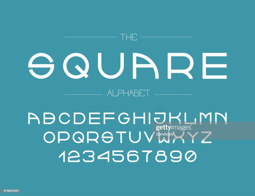 The modern line font