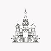 The Most Famous cathedral In Moscow, Saint Basil's Cathedral, Russia