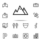 the mountains icon. Navigation icons universal set for web and mobile