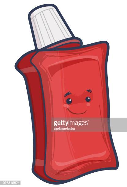 the mouthwash - mouthwash stock illustrations, clip art, cartoons, & icons