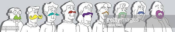 the multicolored mustachioed