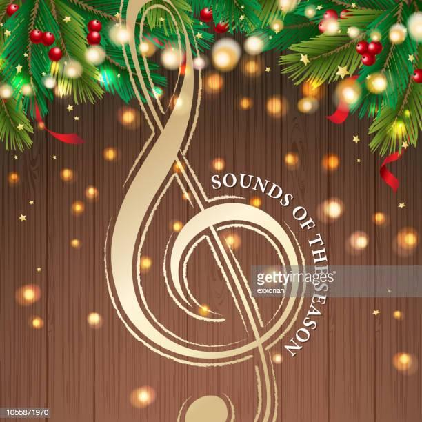 the music of christmas - christmas music stock illustrations