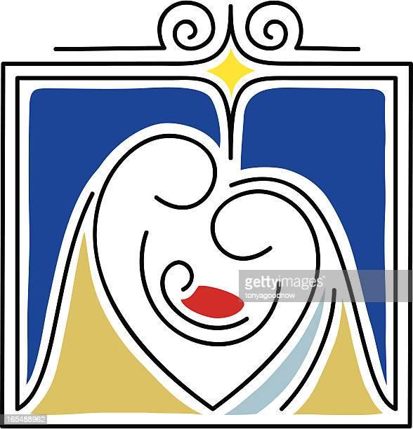 the nativity gift - jesus stock illustrations, clip art, cartoons, & icons