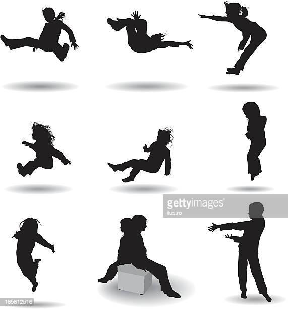 ilustraciones, imágenes clip art, dibujos animados e iconos de stock de new para niños - salto de longitud