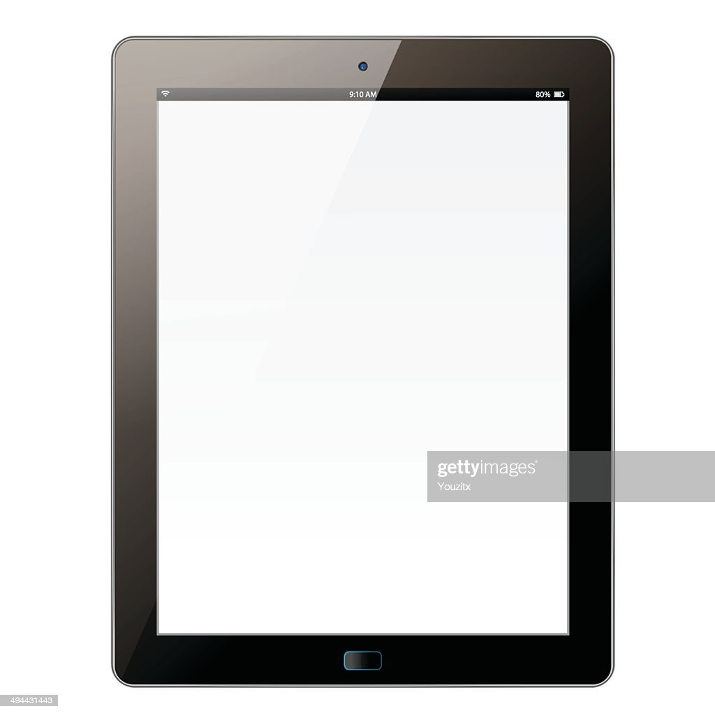 The new tablet with white screen