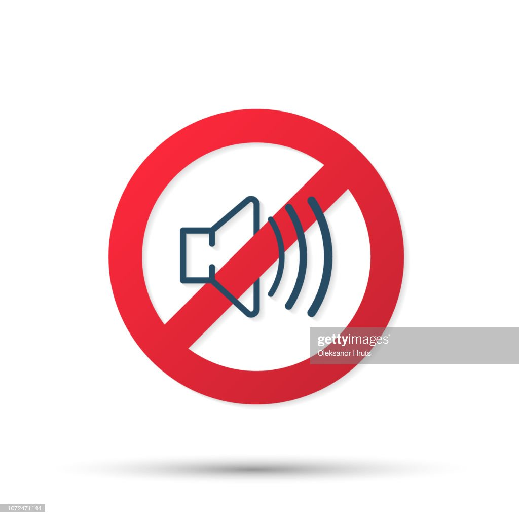 The no sound icon. Volume Off symbol. Vector illustration.