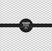 The pattern of honeycomb is black. Background for your project. Black on white. Vector illustration