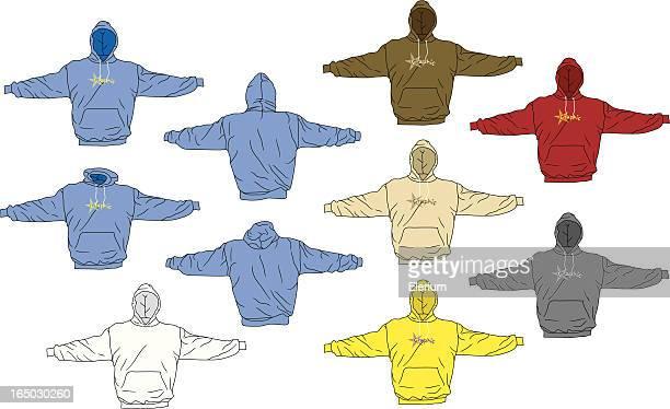ilustrações, clipart, desenhos animados e ícones de o moletom com capuz perfeito - casaco curto com mangas