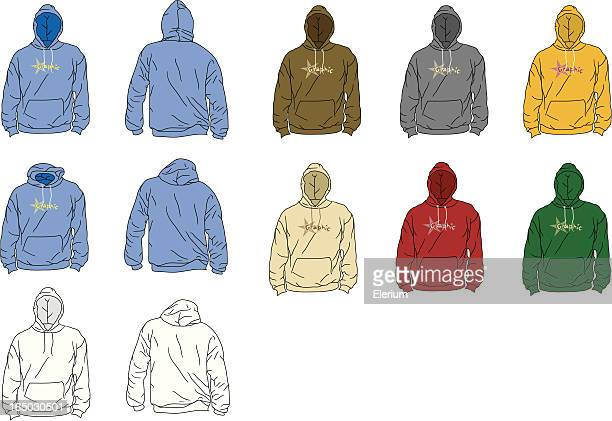 the perfect hoodie (arms down) - hooded top stock illustrations