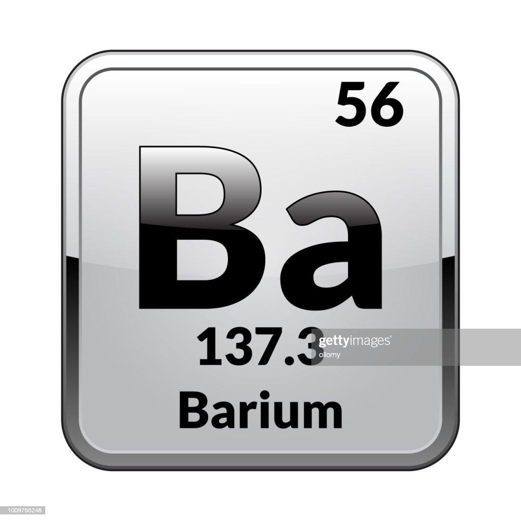 The periodic table element Barium.Vector.