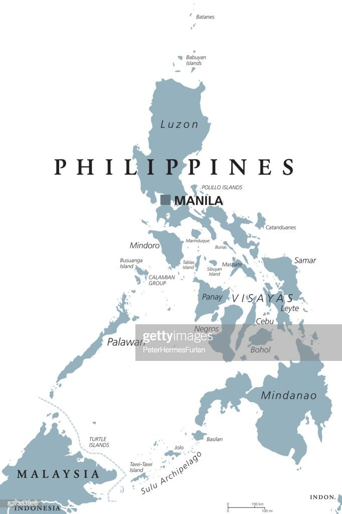 The Philippines political map