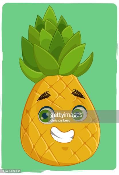 the pineapple - morango stock illustrations
