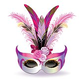 The pink carnival mask