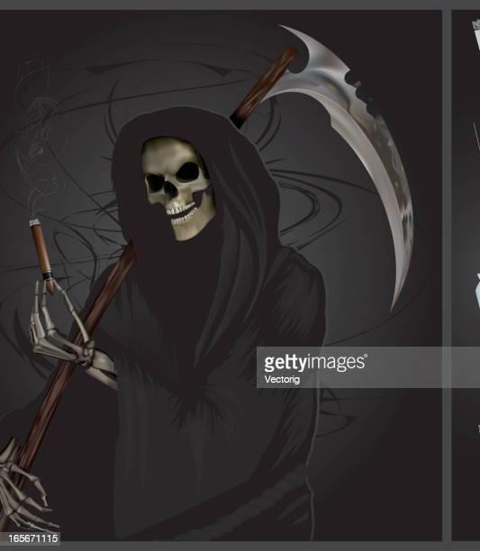 ilustraciones, imágenes clip art, dibujos animados e iconos de stock de el reaper ofrece - la muerte
