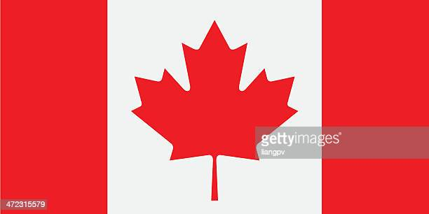 the red and white cardigan flag with its famous maple leaf - canadian flag stock illustrations, clip art, cartoons, & icons