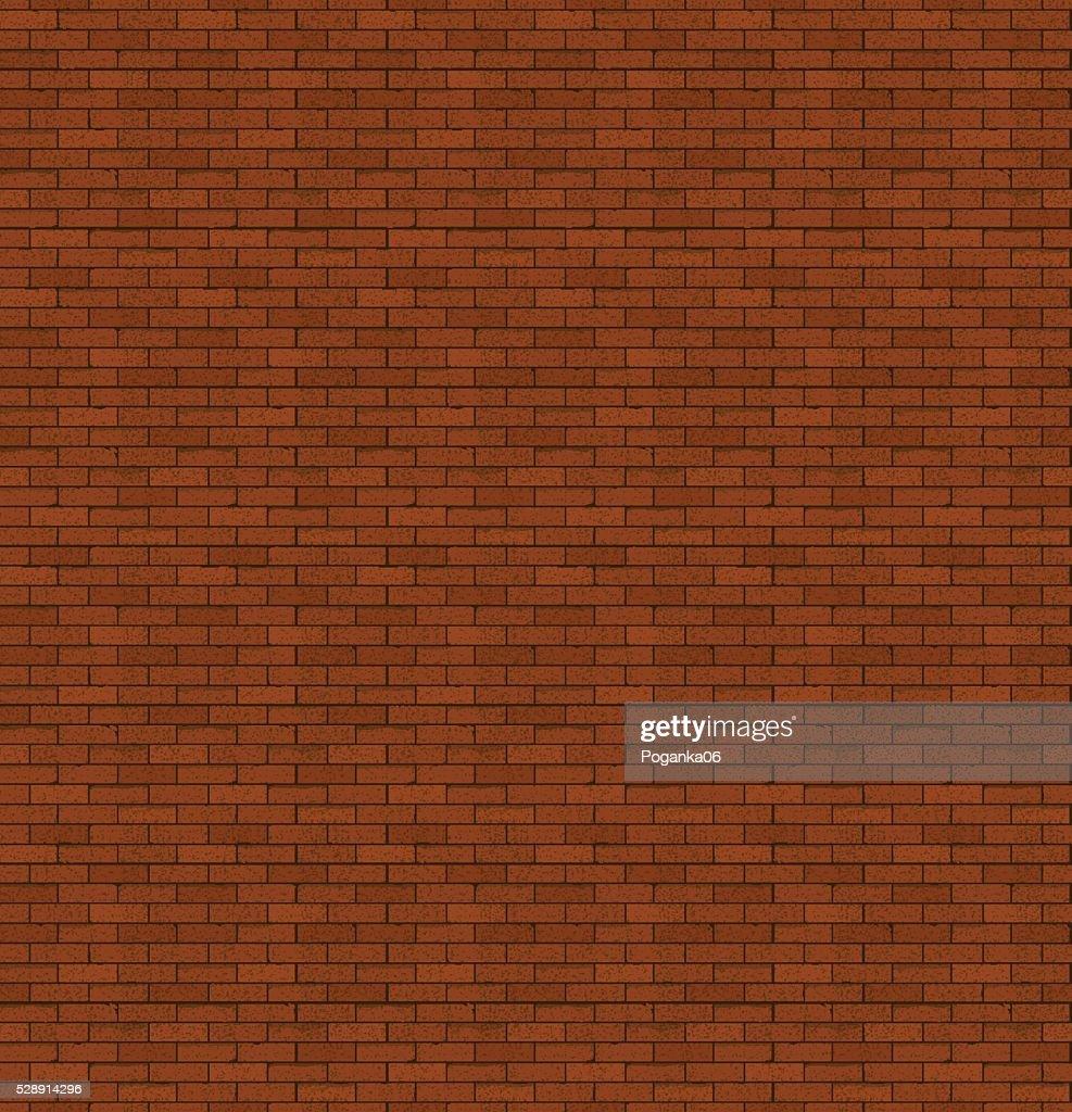 The red brick. Old masonry. Bright background.
