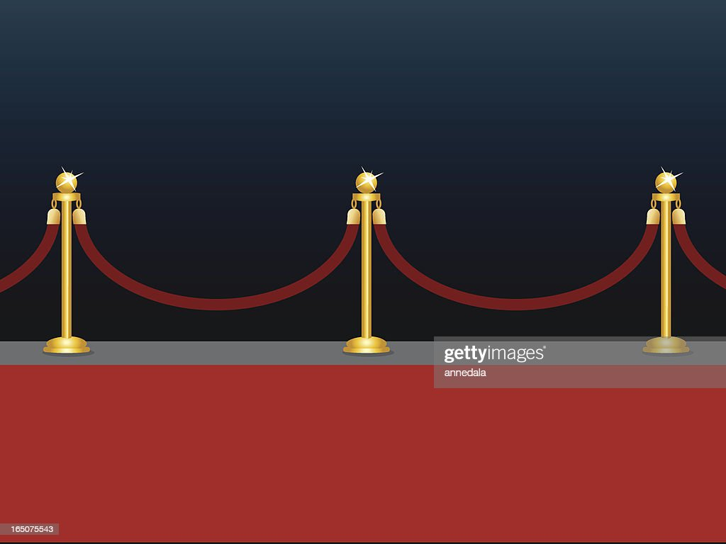 the red carpet : stock illustration
