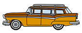 The retro american station wagon
