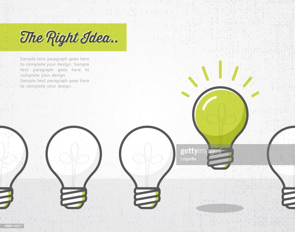 The right idea