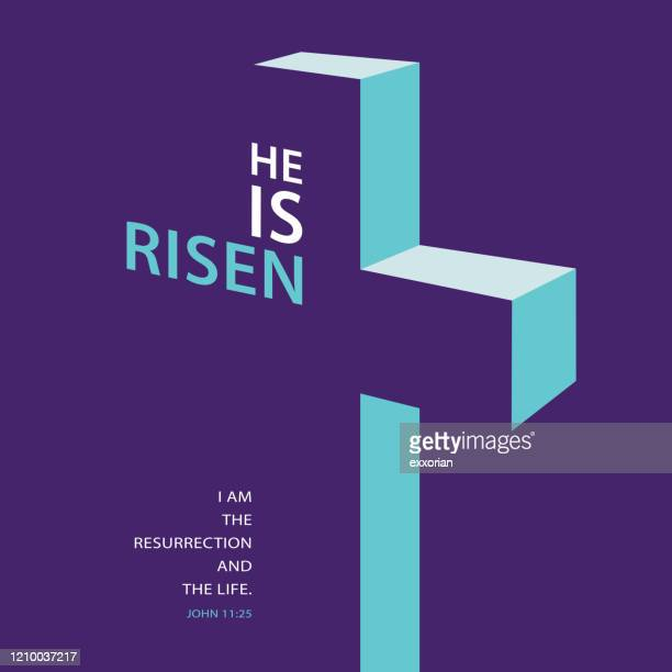 the risen savior concept - easter religious stock illustrations